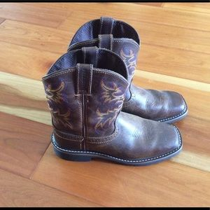 💙Justin Cattleman 💙 Cowboy boots brown leather